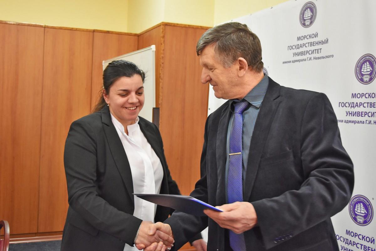 Diplomas presented to correspondence training navigation students
